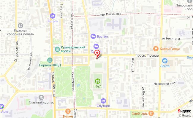 Карта расположения пункта доставки Томск Фрунзе в городе Томск