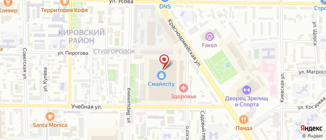 Карта расположения пункта доставки Томск Котовского в городе Томск