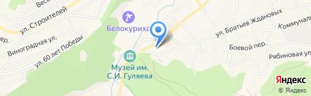 Курорт Белокуриха на карте Белокурихи