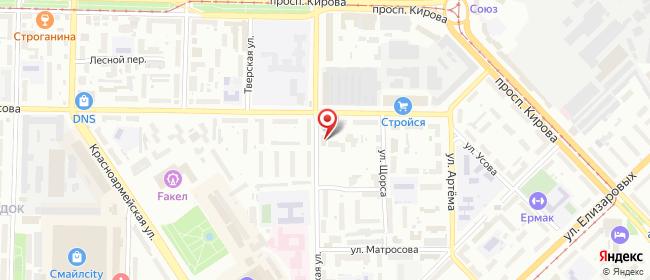 Карта расположения пункта доставки Ростелеком в городе Томск