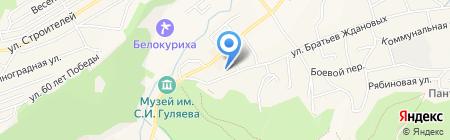 Рубеж на карте Белокурихи