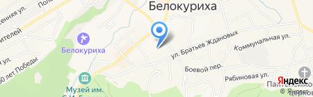 Клуб пограничников на карте Белокурихи