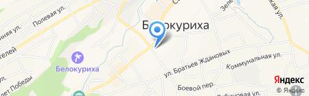 Магазин канцелярских товаров на карте Белокурихи