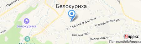 Селена на карте Белокурихи