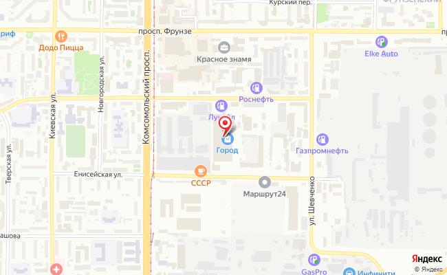 Карта расположения пункта доставки Томск Герцена в городе Томск