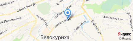 Автостоянка на карте Белокурихи