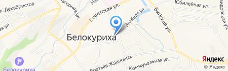 Рябинка на карте Белокурихи