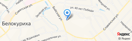 Стройиндустрия на карте Белокурихи