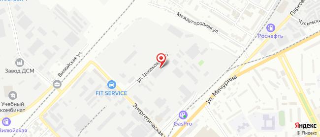 Карта расположения пункта доставки DPD Pickup в городе Томск