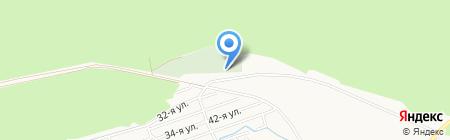 Сорокинское кладбище на карте Бийска