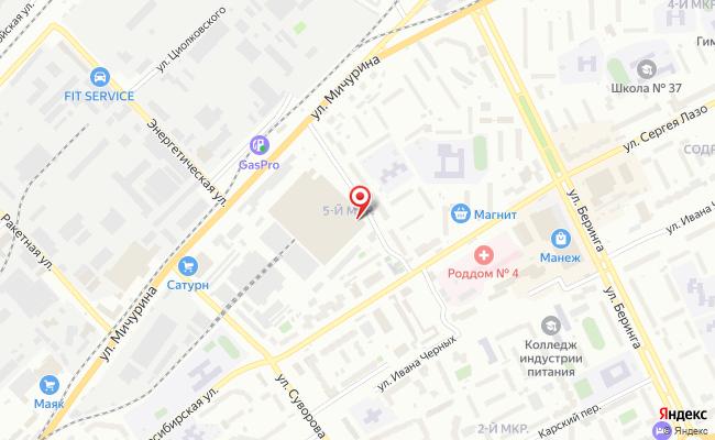 Карта расположения пункта доставки Томск Сергея Лазо в городе Томск