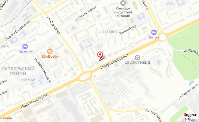 Карта расположения пункта доставки Томск Иркутский тракт в городе Томск