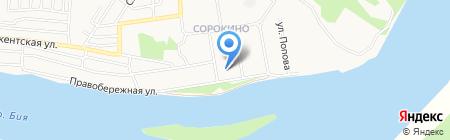 Средняя общеобразовательная школа №33 на карте Бийска