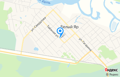 Местоположение на карте пункта техосмотра по адресу Томская обл, рп Белый Яр, ул Таежная, д 40А