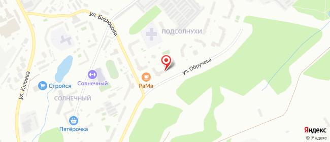 Карта расположения пункта доставки Томск Герасименко в городе Томск