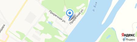 Основная общеобразовательная школа №36 на карте Бийска
