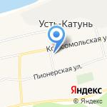 Усть-Катунская сельская библиотека на карте Бийска