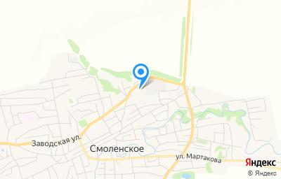 Местоположение на карте пункта техосмотра по адресу Алтайский край, с Смоленское, ул Горная, д 1, пом 1
