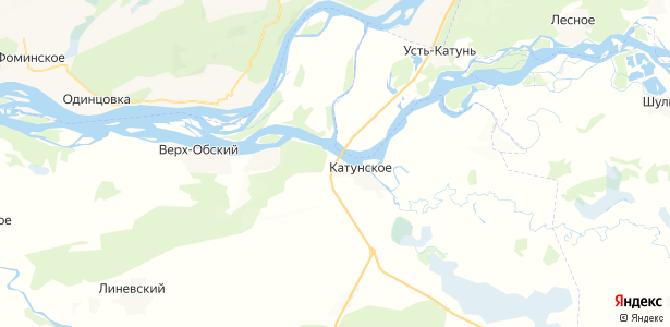 Катунское на карте