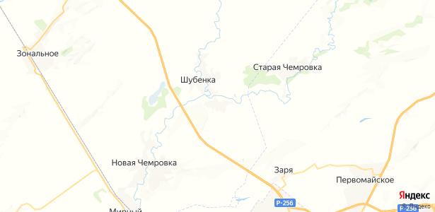 Шубенка на карте