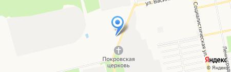 Автомобилист на карте Бийска