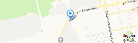Пожарная часть №1 на карте Бийска