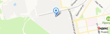 Востокбурвод на карте Бийска