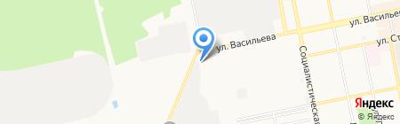 Гаражно-строительный кооператив №4 на карте Бийска