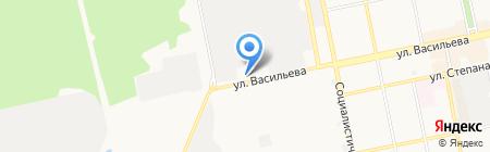 Орлан на карте Бийска
