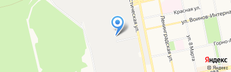 Втормет на карте Бийска