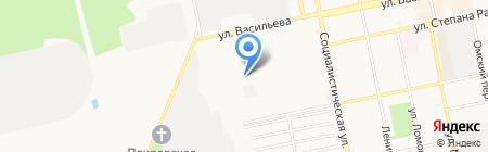 Салют-Б на карте Бийска