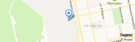 БуквА на карте Бийска