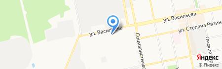 ИЗС на карте Бийска