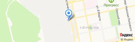 Спрут на карте Бийска