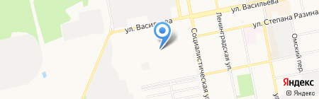Отделстрой на карте Бийска