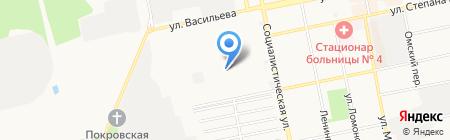 Промвентиляция на карте Бийска