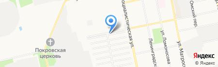 Гагарин на карте Бийска