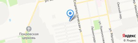 Автомойка на ул. Чайковского на карте Бийска