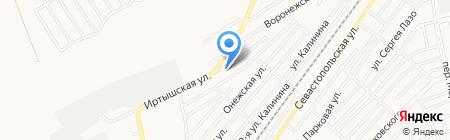 Бухта на карте Бийска
