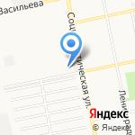Гаражно-строительный кооператив №1 на карте Бийска