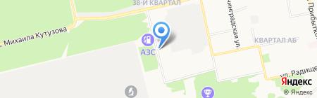 АвтоВольт на карте Бийска
