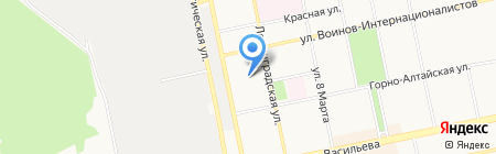 Золушка на карте Бийска