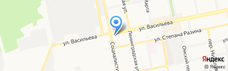 1000 крепежей на карте Бийска