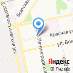 Бия-2 на карте Бийска