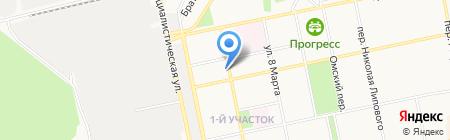 Техноград на карте Бийска
