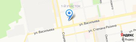 Скорая медицинская помощь на карте Бийска