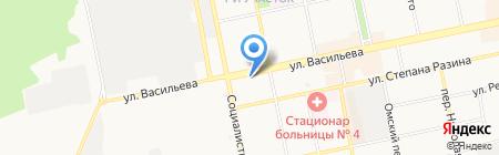 Магазин посуды на карте Бийска