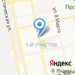 Киоск по продаже хлебобулочных изделий на карте Бийска