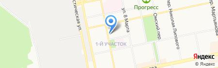 Вирэна на карте Бийска