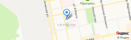 Лилия на карте Бийска